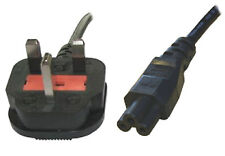 Power Cable UK Mains Fused Plug to IEC C5 Female Socket 5 Amp 2m 2 metres