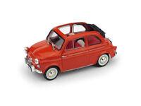 "FIAT 500 NUOVA ""AMERICA"" APERTA 1958 TARGATA NEW YORK! ROSSA BRUMM R376-02"