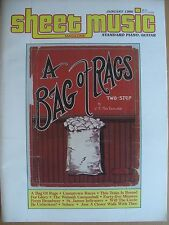 SHEET MUSIC MAGAZINE JANUARY 1986 A BAG OF RAGS TWO - STEP PIANO & GUITAR
