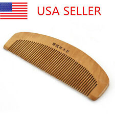 Natural Wide Tooth Peach Wooden No-static Comb Hair Brush Great For Gift