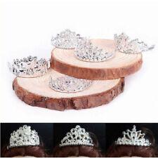 10x Girls Crown Tiaras Crystal Rhinestone Sliver Headband Mini For Doll Decor