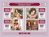 Togo 2016 MNH Liz Elizabeth Taylor 4v M/S Richard Burton Movie Stars Stamps