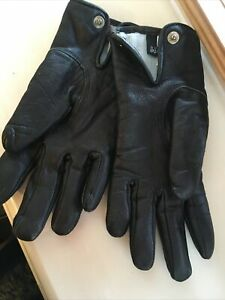 Ladies size 7 (XS) Thinsulate Insulation 70 gram black Leather Gloves