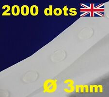 2000 Glue Dots Sticky Craft Clear Card Making Scrap Removable 3mm EASY TACK