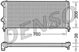 Motorkühler Wasserkühler DENSO DRM09060 für FIAT DOBLO Aluminium Cargo Multijet