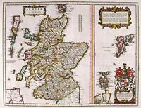 MAP ANTIQUE 1654 SCOTLAND BLAEU KINGDOM OLD LARGE REPLICA POSTER PRINT PAM0129