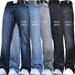 BNWT NEW MENS STRAIGHT LEG REGULAR FIT DARK BLUE DENIM JEANS ALL WAIST & SIZES