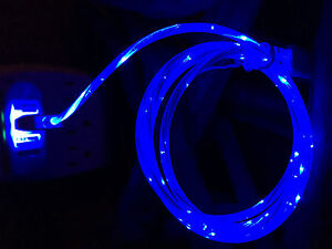 iPhone 5 6 7 8 X 11 LED Flowing Moving Light 8 Pin USB Charger Cable Cord 3'