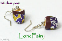 Hand Crafted Creme Egg Earrings Easter Polymer Clay Chocolate Food