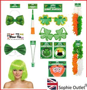 St Patricks Day Party Costume Accessories Irish Tie Fancy Dress Badge Sunglasses