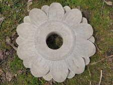 "12"" Cement Sunflower Planter or Gazing Ball Holder Garden Stone Concrete Daisy"