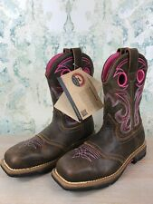 NEW Red Wing Irish Setter Cowboy Cowgirl Pink Brown Leather Boots US 8, 8.5 B