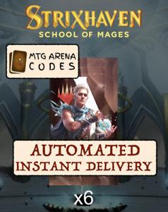 MAGIC MTG Arena Code Card: 6 Boosters Packs Strixhaven Prerelease (STX) -INSTANT