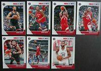 2019-20 Panini NBA Hoops Toronto Raptors Base Team Set of 7 Basketball Cards