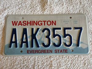 Washington Evergreen State AAK3557 Genuine Pre-Owned USA American License Plate