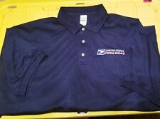 USPS POSTAL DARK NAVY POLO SHIRT WITH EMBROIDERED POSTAL LOGO ON CREST S - 5X