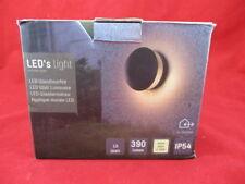 LED Wandleuchte Dragonera rund dunkelgrau anthrazit Außenleuchte Outdoor Lampe