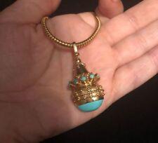 Antique Islamic Qajar 18 Century Royal Solid 22k Gold Nishapur Turquoise Stone