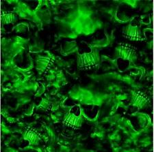 "Reaper Skulls GREEN vinyl Wrap air release MATTE Finish 12""x12"""