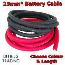25MM Battery Cable 170A Flexible PVC Battery Welding Cable Black Red OFC 25mm²
