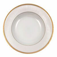 Fitz and Floyd Classique d'Or Rimmed Soup Bowl White Gold Rim Verge