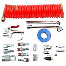20Pcs Air Compressor Accessories Kit,Blow Gun Tool kit,1/4in NPT w/ Coil PE Hose