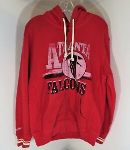 Mitchell & Ness Atlanta Falcons Full Zip Hoodie Hooded Sweatshirt - Medium