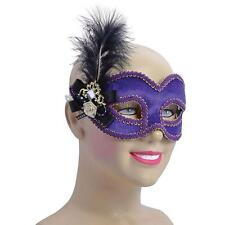 Venetian Masquerade Mask ~ Purple, gold, Black feather ~ Ball ~ Party ~ Carnival