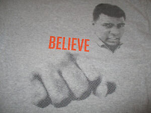 """MUHAMMAD ALI """"BELIEVE"""" 12/5/11 Colins Center SAY YES Youth Center (MED) T-Shirt"""