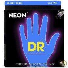 DR Strings NBE-10 Neon Blue Coated Medium Electric Guitar Strings (10-46)