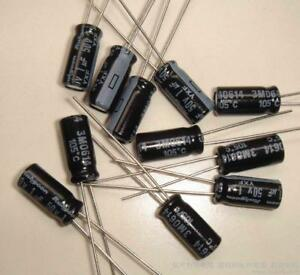 Radial Electrolytic Capacitors x 10 Pieces Common Value and Voltage