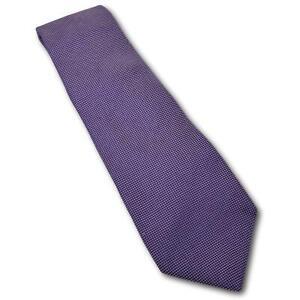"Recent Ermenegildo Zegna Purple Pin Dot Woven Silk Tie 3 3/8"" Width"