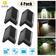 4Pcs Solar Powered LED Deck Lights Outdoor Path Garden Stairs Step Fence Lamp US