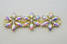 K9049 1 pcs Costume Wedding Dress Rhinestone Applique Color Crystal Sewing On