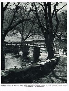 Footbridge At Rydal Lake District Cumbria Picture Old Print 1953 CLPBOTLD#41