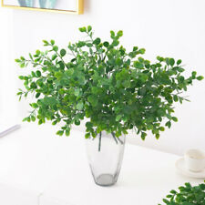 Plastic Bunch Of Artificial Eucalyptus Stems Greenery Leaves Fake Decor Plants