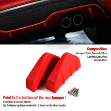Promotion Rear Bumper Diffuser Molding Point Garnish Red 2P for All Vehicle(Fits: Ford Manual)