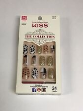 KISS THE COLLECTION NAILS  MEDIUM LENGTH GLUE ON NAIL KIT 62270 SSC01 - 1321