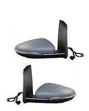 VW Touran Mk2 2010-2015 Door Wing Mirror Electric Pair Left & Right  o/s n/s set