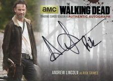 Walking Dead Season 4 Part 1 Black Autograph Card AL2 Andrew Lincoln as Rick