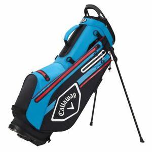 Callaway Golf Chev DRY Waterproof Golf Stand Bag in Black/Cyan/Fire 2021 B/N