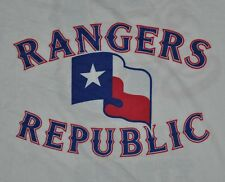 T-SHIRT L LARGE TEXAS RANGERS BASEBALL REPUBLIC 3 MILLION STRONG NATION SHIRT
