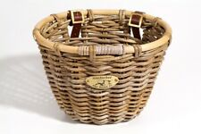 Nantucket Tuckernuck Rattan oval wicker bicycle basket