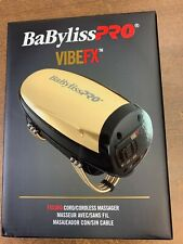 Babyliss PRO VIBEFX Cord/Cordless Hand Held Massager GOLD! #FXSSMG
