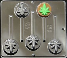 "2"" Diameter Marijuana Leaf Pot Leaf Lollipop Choc.candy Mold Canibus  3443 NEW"
