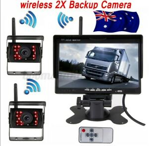 18LEDs IR Wireless Reversing Camera +7'' TFT LCD Monitor Rear View MP5 Player