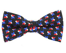 Texas Pride Mens Novelty Bow Tie Pre-tied Lone Star State Flag Fashion Gift New