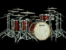 "TAMA STAR Maple Drumset Satin Burgundy Red SBD 20""/12""/14"" + 14""×5,5"" Snare"
