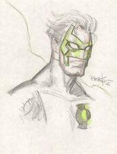 Green Lantern Kyle Rayner Color Portrait Sketch - 2006 art by Dan Brereton