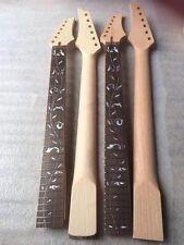 09017 nice 2 pièces de inachevée-guitare électrique cou 22 frettes et 24 frettes